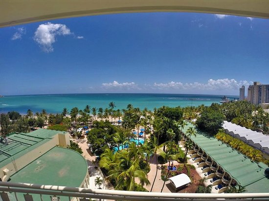 InterContinental San Juan : the view from the 10th Floor...