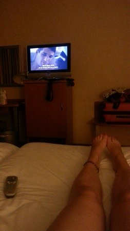 Hotel Acces : Kamer met tv (An Officer and a Gentleman) :-)