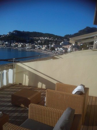Esplendido Hotel: Another view from terrace of Room 302