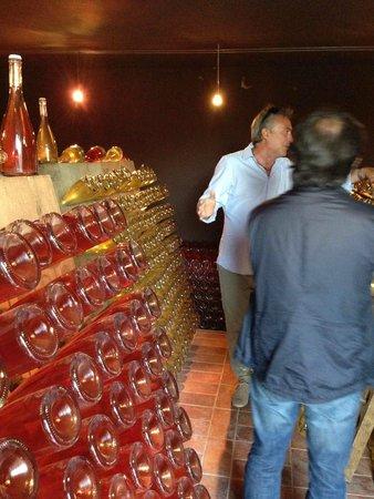 Relais Il Falconiere & Spa: Riccardo alla visita delle cantine