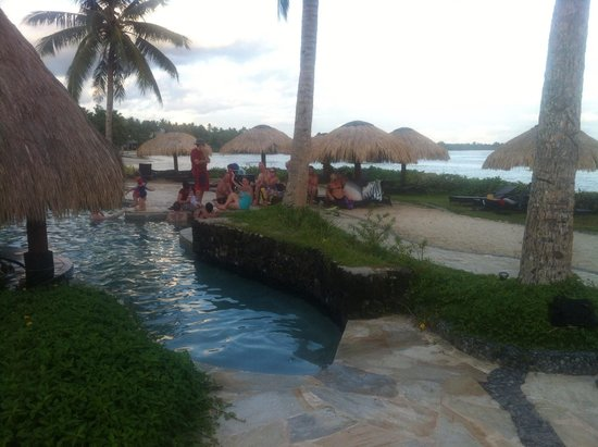 Coconuts Beach Club: Lounging at the pool