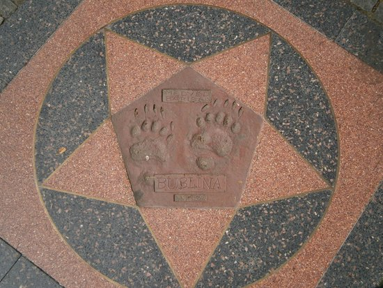 Prager Zoo: Famous footprints