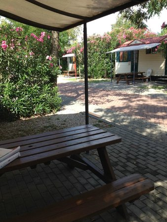 Camping Village Roma: Outside the bungalow