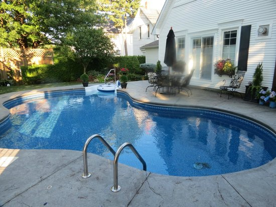 Marlborough House Bed & Breakfast: Backyard Pool
