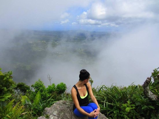 Real St. Lucia Tours : Up in the clouds at the top of the Gros Piton.
