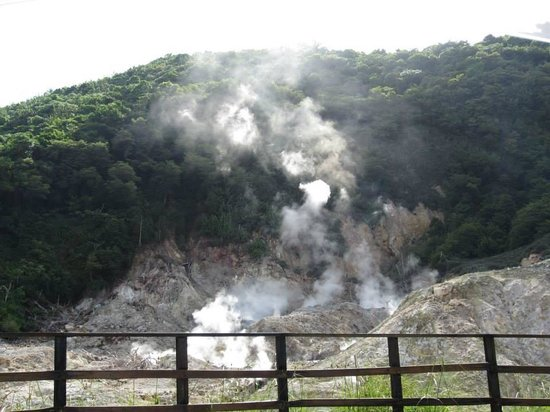 Real St. Lucia Tours : Driving by the volcano
