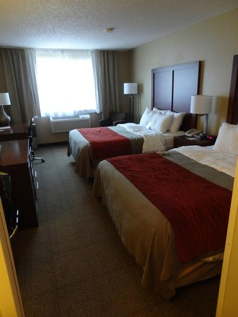 Comfort Inn : Rm #206, very nice bedroom, sitting chair with footstool