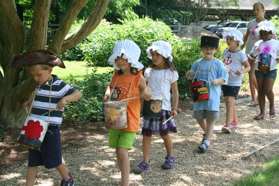 Ker Place : Little Crafter's Camp:  Playing drums