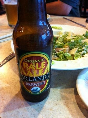 Flippers Pizza : Local Brew & Caesar Salad