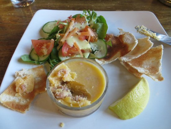 Upstairs at The Folly Wine Bar and Restaurant: Potted shrimps