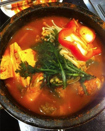 Seoul BBQ & Sushi: A type of seafood soup