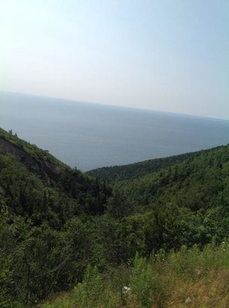 Cabot Trail : first lookout after Smoke mountain