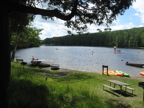 Gilbert Lake State Park : beach/grassy area and canoe/rowboat rentals