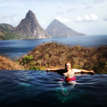 Jade Mountain Resort: Infinity pool in the room!