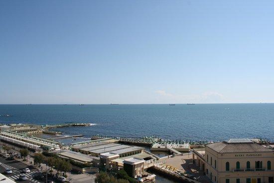 NH Livorno Grand Hotel Palazzo: Hotel is literally right on the coast.