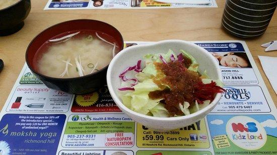 MI-NE Japanese Restaurant: Soup and Salad