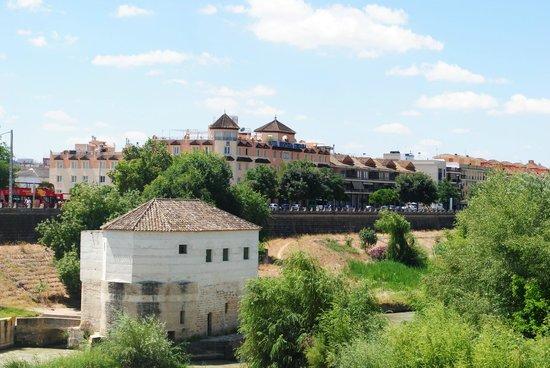 Hesperia Córdoba: Zicht op hotel vanop de brug