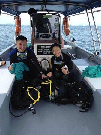 Sibu Island Resort: on the boat