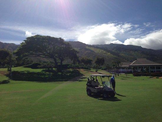 Kahili Golf Course: 18th Hole & Clubhouse