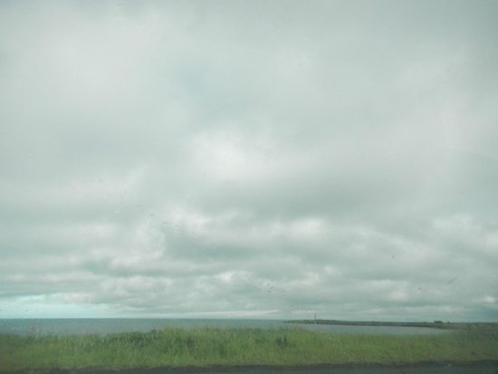 Kopasker, Iceland: At the end of the street, this is the view