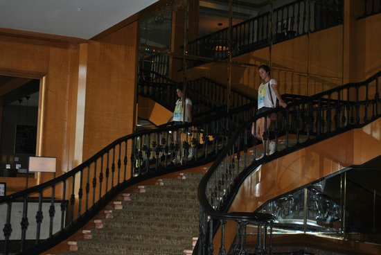 The Westin New Orleans Canal Place: staircase leading to ballrooms