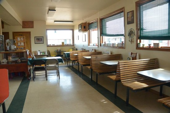 Badlands Interior Motel and Campground : breakfast room