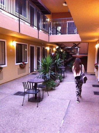 Americas Best Value Inn & Suites - San Francisco Airport: Patio interior