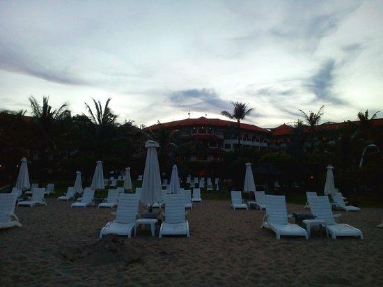 Grand Mirage Resort and Thalasso Bali: Private beach