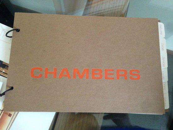 Chambers Hotel: Hotel book