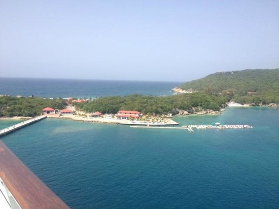 View of the island of Labadee from the ship deck
