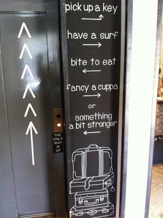 Grassmarket Hotel : Funky directions!
