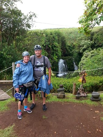 Skyline Eco Adventures - Akaka Falls: Made it through the 3rd one.  Now on to the next!  The gear was not that heavy at all.