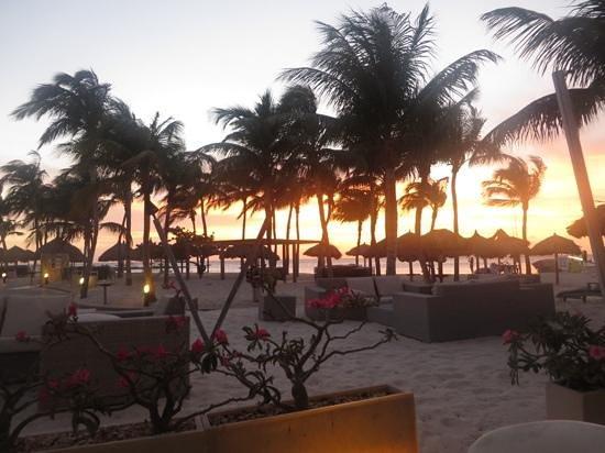Divi Aruba Phoenix Beach Resort: sun beginning to set