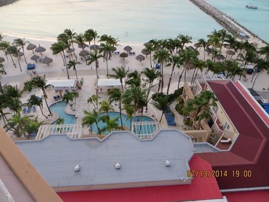 Divi Aruba Phoenix Beach Resort : tower view over the village