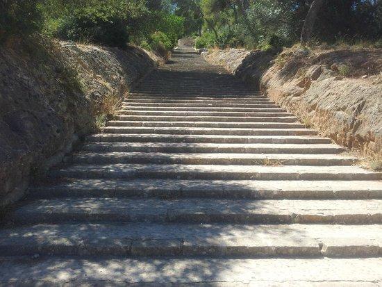 Castell de Bellver (Schloss Bellveder): stairs
