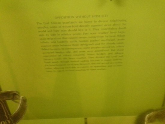 American Museum of Natural History : One of the exhibit descriptions