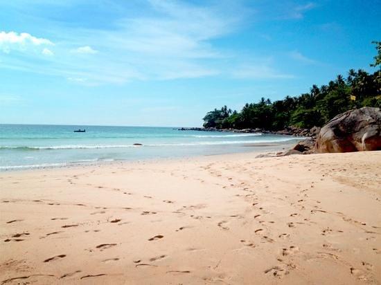 tThe beautiful beach at Amanpuri