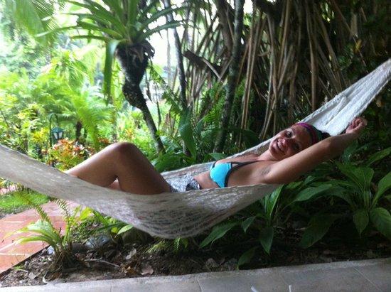 Falls Resort at Manuel Antonio : enjoying the hammock