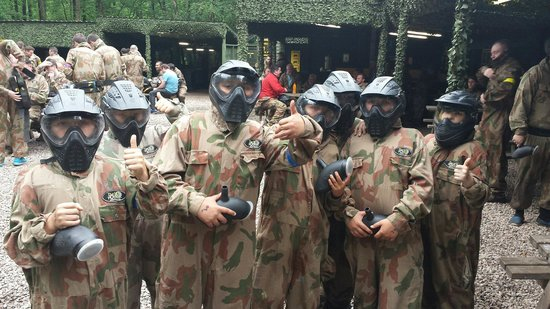 Delta Force Paintball Cardiff: We couldn't tell who was who with their masks on ��