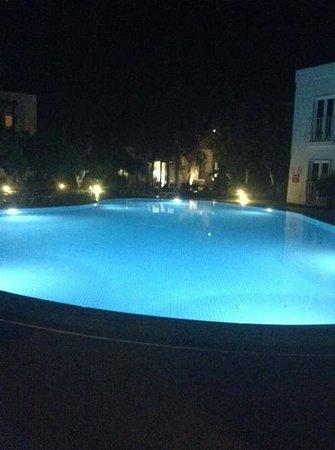 Meis Apart: pool at night