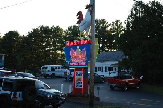 Martha's Dandee Creme: Logo on U.S. route 9, with a chicken on it...  Not too sure about its meaning, though.