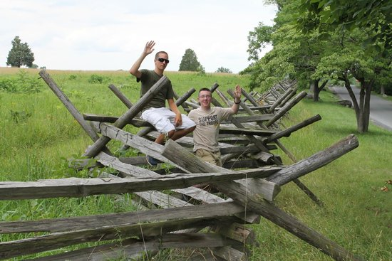Gettysburg National Military Park : There are miles and miles of wood rail fencing around the Battle of Gettysburg