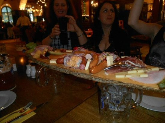 Radius Tours: Platter of German meats/cheeses and spreads
