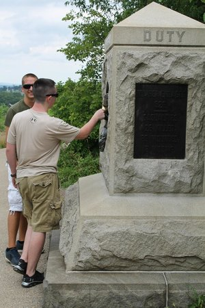 Gettysburg National Military Park : Just one of over 1,400 battlefield memorials at Gettysburg