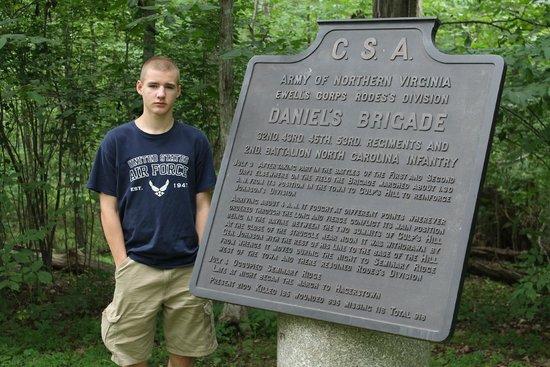 Gettysburg National Military Park : Daniel Guerrant and memorial to Daniel's Brigade at Culp's Hill