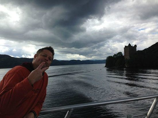 Inverness  Day Tours: On Loch Ness approaching the castle