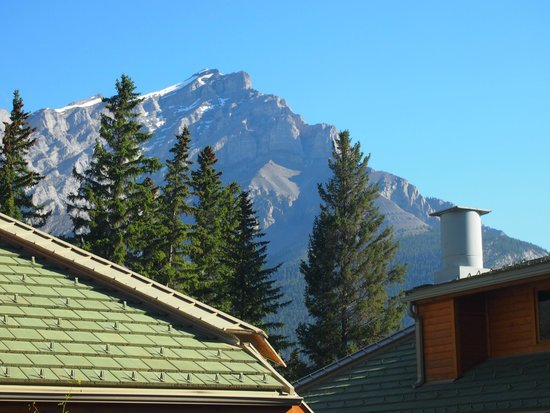 Fox Hotel & Suites: A nice summer view of the Rockies!