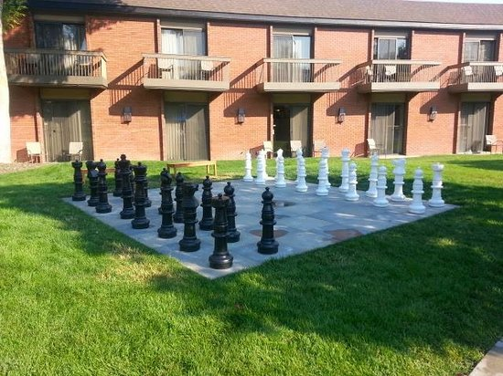 The Riverside Hotel: Giant Chess Board