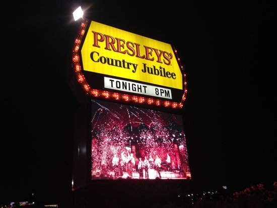 Presley's Country Jubilee: Had to get a picture after the show of the Marquee!! :))