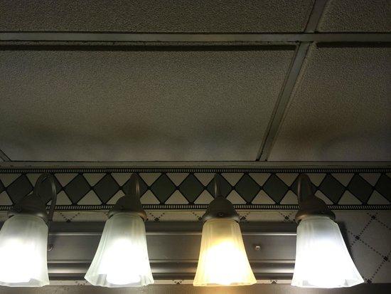 Crowne Plaza Harrisburg-Hershey: OLD moldy ceiling tiles